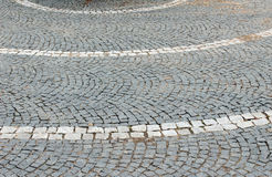 Paving stone path Royalty Free Stock Photography