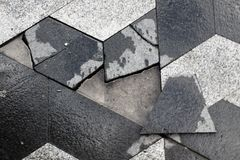 Paving stone puzzle stock photo