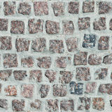 Paving stone of red granite Stock Photography