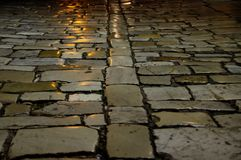 Paving stone road Stock Image