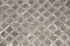 Paving stone of a square, from above Royalty Free Stock Images
