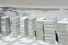 Paving stone stack Royalty Free Stock Photo