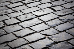 Paving stone street Stock Images