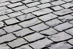 Paving stone street Stock Photo