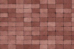 Paving stone texture. Brown color paving stone at road Stock Image