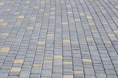 Paving stone texture. New gray paving stone texture. Structured background Royalty Free Stock Image