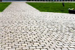Paving stones. Paving stone on a square creating an interesting texture stock photography