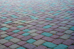 Paving stones. Paving stone walkway or driveway Royalty Free Stock Photography