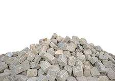 Paving stones. Pile of paving stones on white background Stock Photography