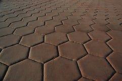 Paving stones. Hexagonal paving stones Royalty Free Stock Images