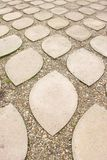 Paving stones in the Castle of Eger, Hungary. The Eger Castle was the venue of a famous medieval siege. The Hungarian garrison defeated the  Turkish invasion Stock Images