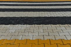 Paving stones, colorful landscape architecture work Royalty Free Stock Image