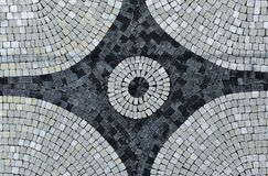 Paving stones, colorful landscape architecture work Royalty Free Stock Images