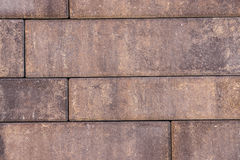 Paving stones on construction market. Paving slabs background. Royalty Free Stock Image