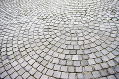 Paving stones laid out in a radial pattern Royalty Free Stock Image
