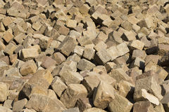 Paving stones lying in the street Stock Photography