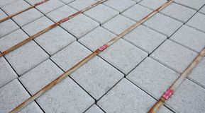 Paving stones packed Stock Photo
