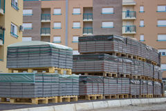Paving stones on pallets Stock Photo