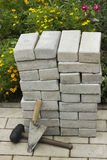 Paving stones in a pile Stock Image