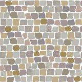 Paving Stones Road Texture seamless pattern. wall of stone, cobbled street Stock Images