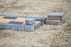 Paving stones for sidewalk Stock Image