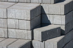 Paving stones stack Stock Photos