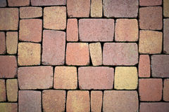 Paving stones for terrace construction Stock Image