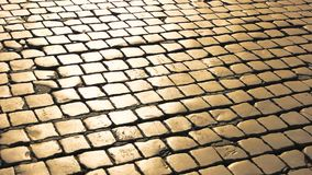Paving stones texture. Square stones and sunlight stock video