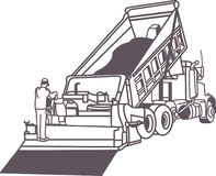 Paving Truck Outline Royalty Free Stock Photos