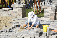 Paving Woman Royalty Free Stock Photography