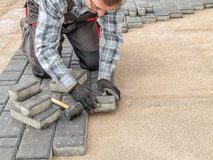 Paving work stock images