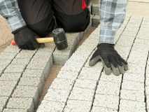 Paving work Royalty Free Stock Photography