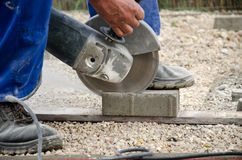 Paving worker Royalty Free Stock Photos