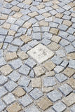 Paving works with granite stones Stock Image