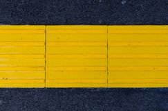 Paving yellow tiles. For invalids royalty free stock photos