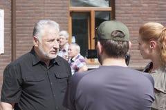 Pavlo Zhebrivsky, голова воинского Донецка регионального и гражданского объявления Стоковая Фотография