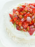 pavlova草莓 免版税库存图片