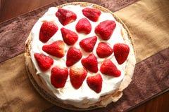 pavlova草莓 库存照片