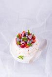 Pavlova με τα φρούτα μούρων Στοκ φωτογραφία με δικαίωμα ελεύθερης χρήσης