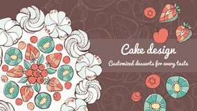 Pavlova and cake design banner Stock Photos