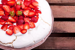 Pavlova cake Royalty Free Stock Photography