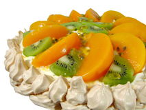 Pavlova Dessert 2. Isolated photo of home made Pavlova Royalty Free Stock Photography