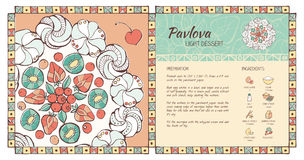 Pavlova dessert Royalty Free Stock Photos