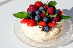Pavlova-Kuchen Stockfotografie