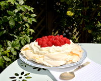 Pavlova. Is a meringue-based dessert Stock Image
