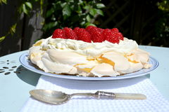 Pavlova. Is a meringue-based dessert Royalty Free Stock Photos