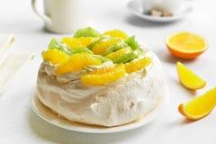 Pavlova meringue cake Stock Image