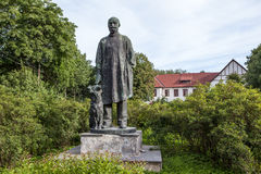 Pavlova, RUSSIA. Monument Pavlov dog. Royalty Free Stock Photo