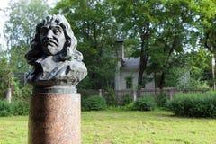 Pavlova RYSSLAND Monument en byst av Descartes arkivbilder
