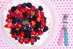Pavlova tort Fotografia Stock
